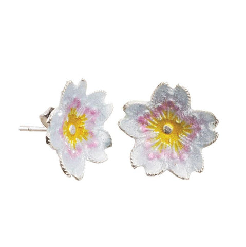 Cloisonne Cherry Blossom Post Earrings