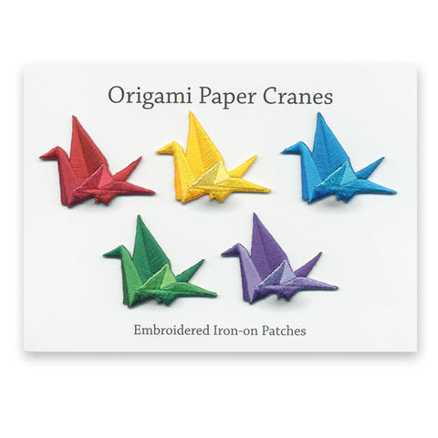 Origami Crane Mini Patches