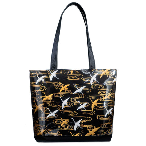 Cranes in Flight Large Tote