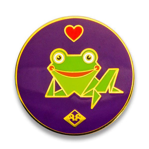 Kaeru Pin-Kaeru  Loves JANM (Purple with Heart )