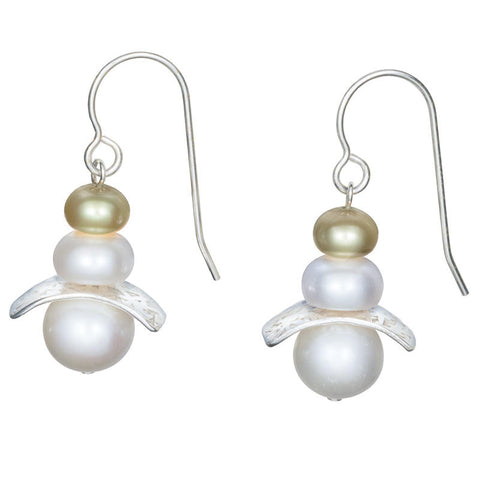 Kagami Mochi Pearl Earrings