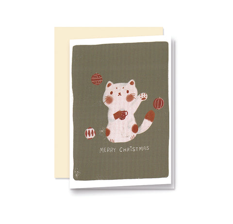 Maneki Neko Christmas Card Set
