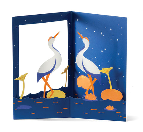 Peaceful Cranes Pop-up Cards (set of six)