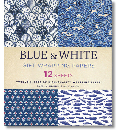 Blue and White Wrapping Paper