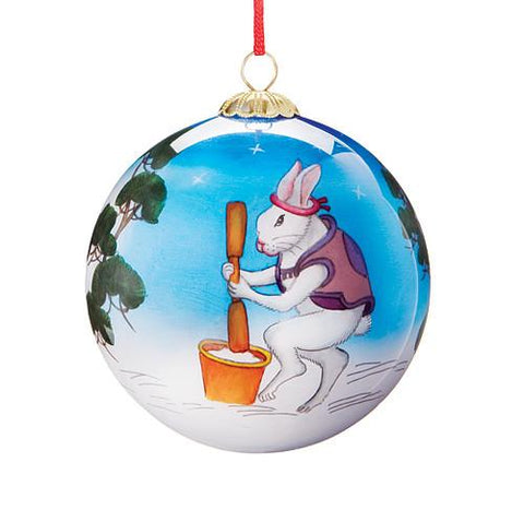 Rabbits In The Moon Ornament