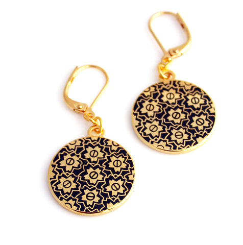 Senbei Wheel Earrings
