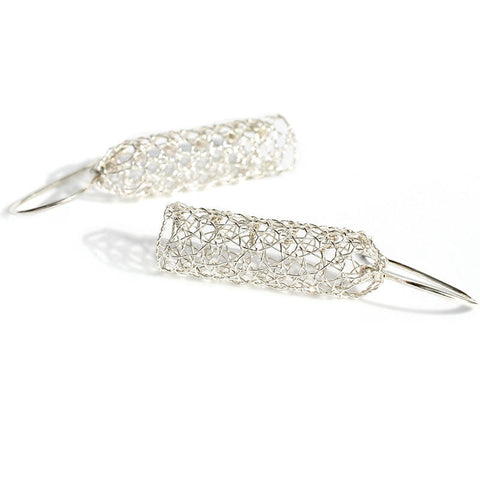 Silver Lace Wire Earrings