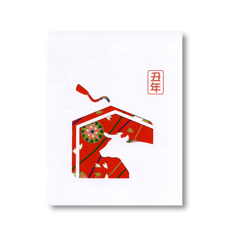 Laser Cut Washi Year of Ox Notecard
