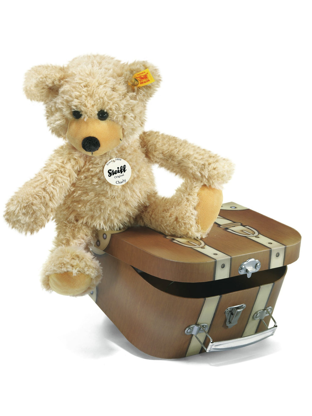 Steiff Charly Dangling Teddy Bear in Suitcase