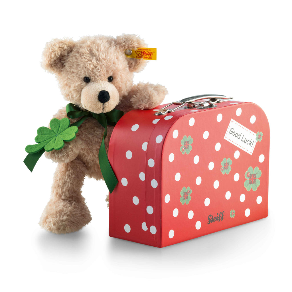 Steiff Fynn Teddy Bear in Suitcase, Good Luck