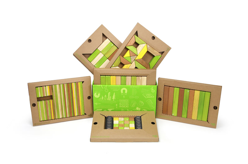 Tegu Classroom Magnetic Wooden Block (Pack of 130)