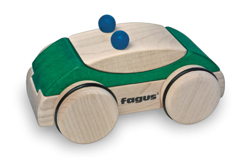 Fagus PuzzleMobile Police Car Green