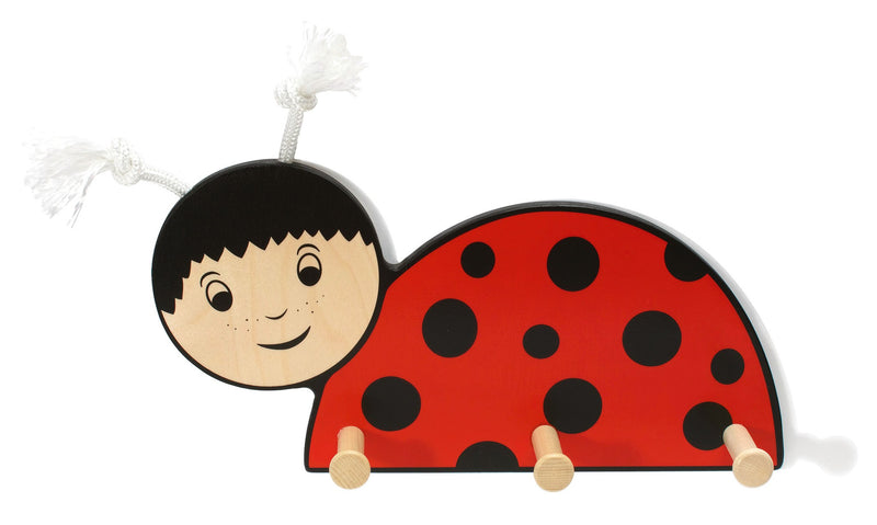 Weizenkorn Wooden Children's Coat Racks, Ladybird