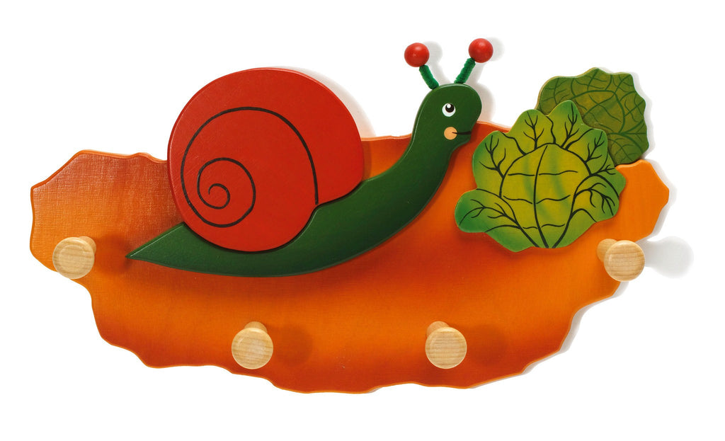 Weizenkorn Wooden Children's Coat Racks, Snail