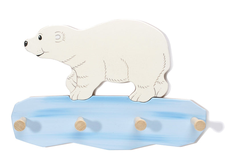 Weizenkorn Wooden Children's Coat Racks, Polar Bear