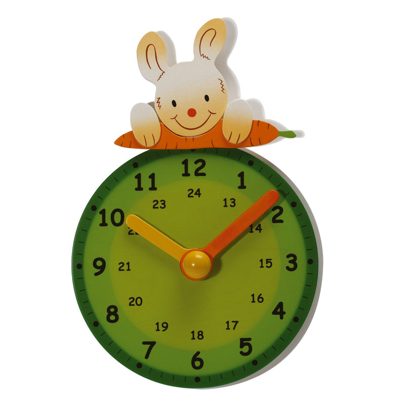 Weizenkorn Learning Clock, Rabbit - Da Da Kinder Store
