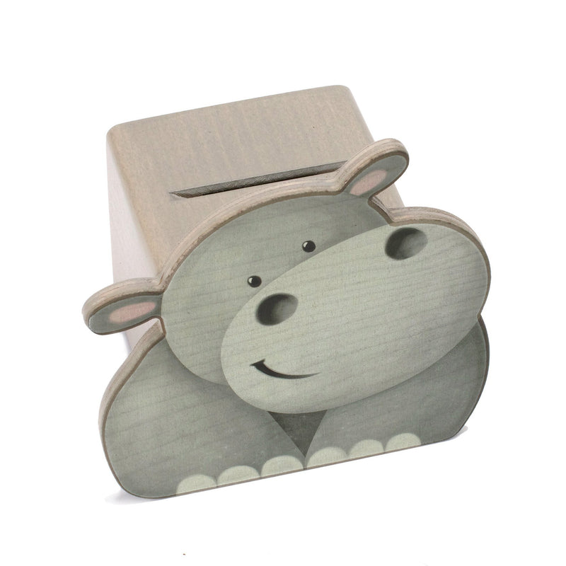 Weizenkorn Money Box, Hippopotamus - Da Da Kinder Store