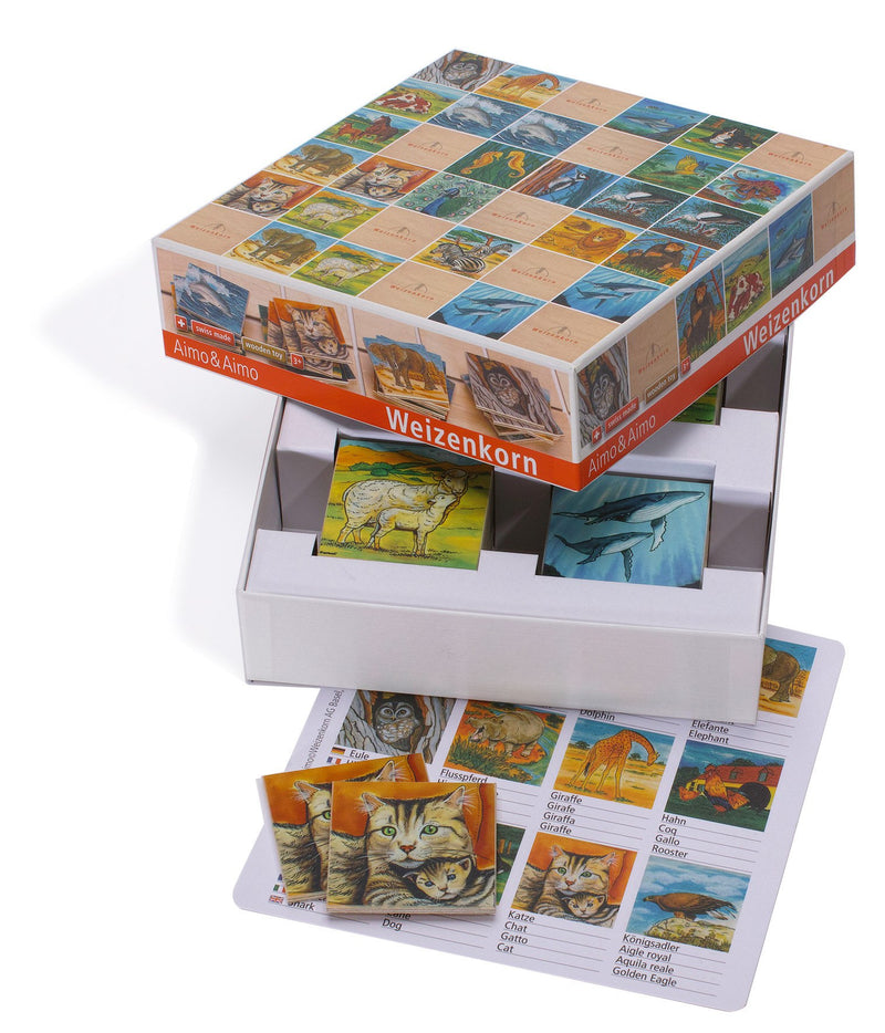 Weizenkorn Memo Games Animals - Da Da Kinder Store