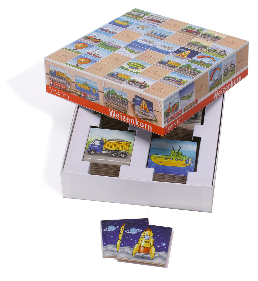 Weizenkorn Memo Games Vehicles - Da Da Kinder Store