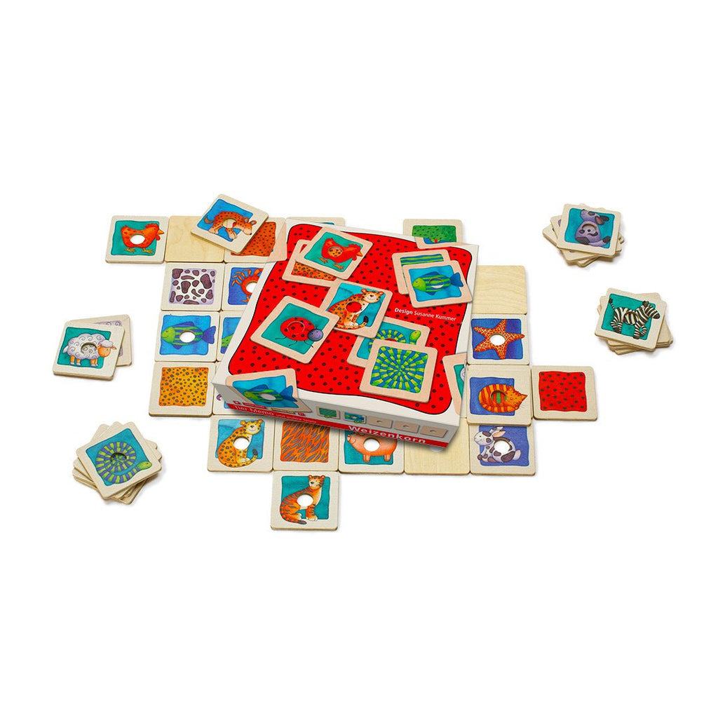 Weizenkorn Memo Games with Hole, Animals - Da Da Kinder Store