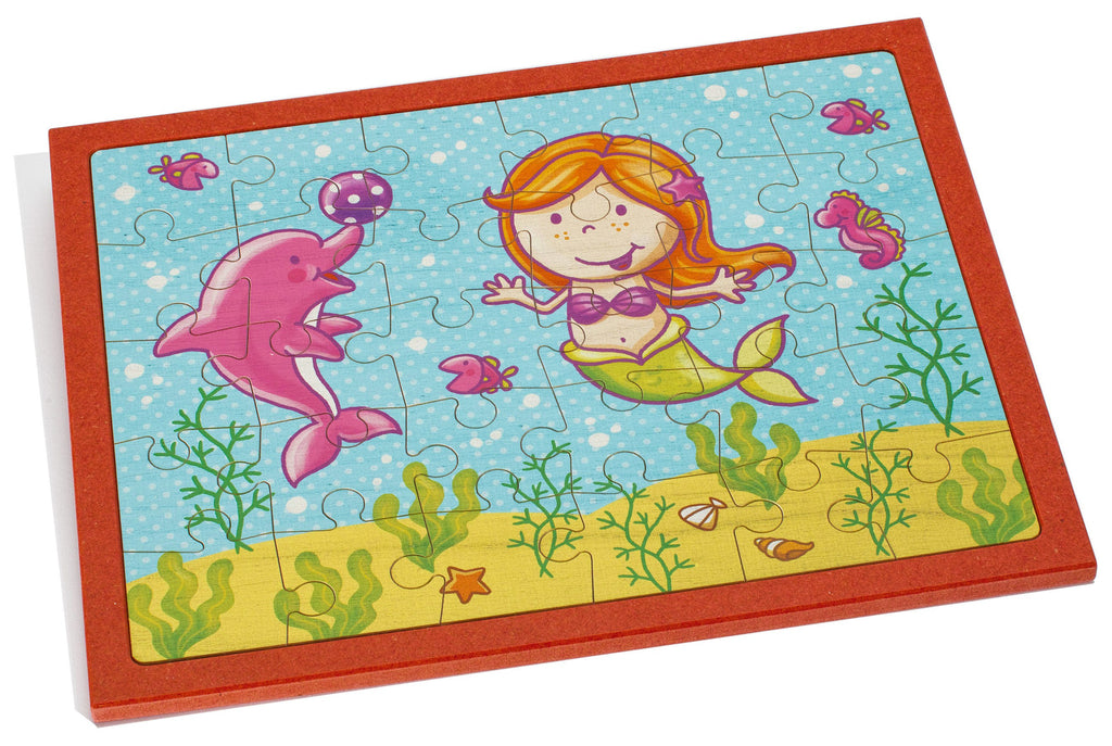 Weizenkorn Puzzle Mermaid with Dolphin, Big