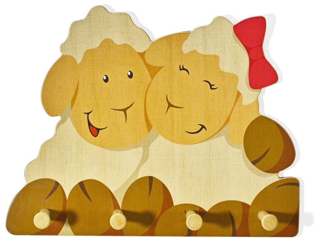 Weizenkorn Wooden Children's Coat Racks, Sheep