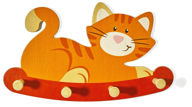 Weizenkorn Wooden Children's Coat Racks, Cat - Da Da Kinder Store