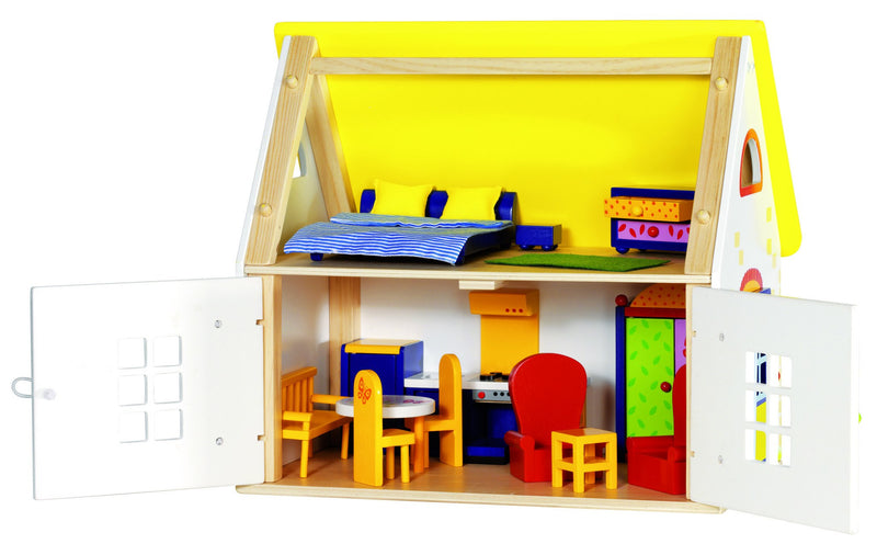 Goki Doll's House Cottage with Accessories - Da Da Kinder Store