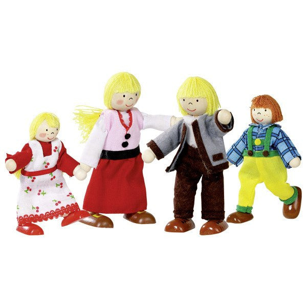 Goki Wooden Flexible Puppets Swiss Alp Family - Da Da Kinder Store