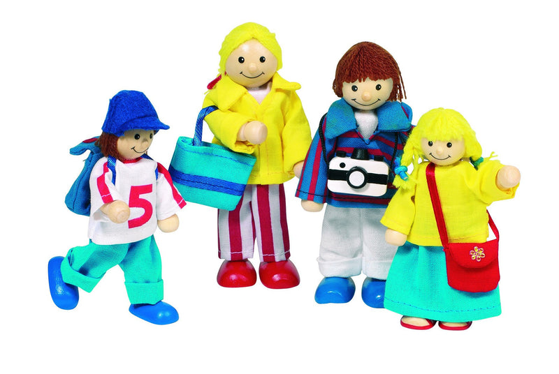 Goki Wooden Flexible Puppets Holiday Family