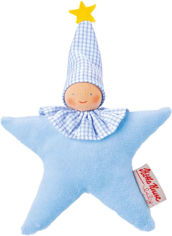 Kathe Kruse Organic Grabbing Toy Star Light Blue - Da Da Kinder Store