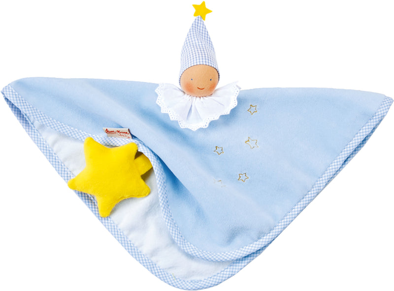 Kathe Kruse Organic Towel Doll Light Blue - Da Da Kinder Store