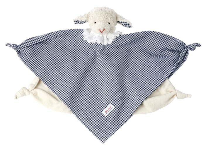 Kathe Kruse Towel Doll Lamb vichy dark blue
