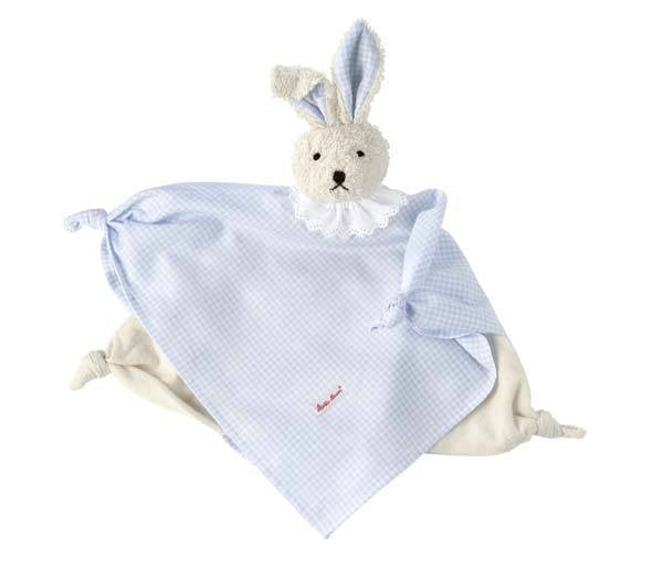 Käthe Kruse Towel Doll Bunny vichy light-blue