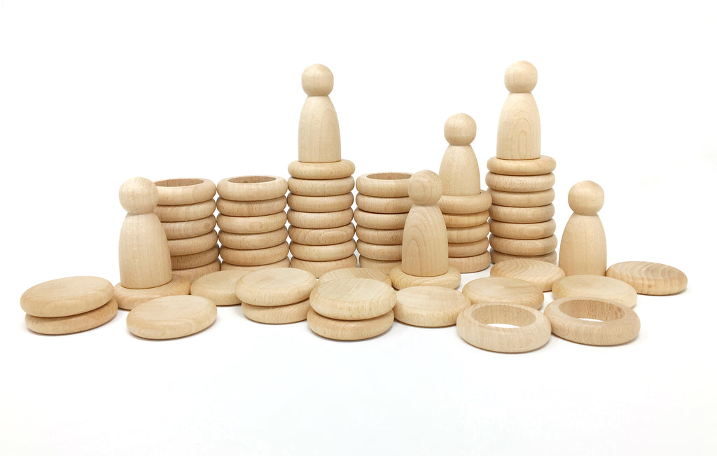 Grapat Nins, Rings and Coins - Natural Wood - Da Da Kinder Store