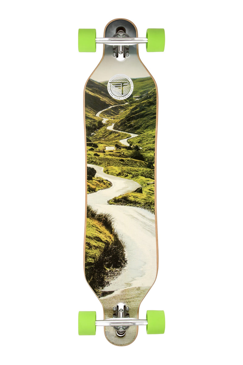 "Flybar 41"" Drop-Through Complete Longboard, Down Hill"