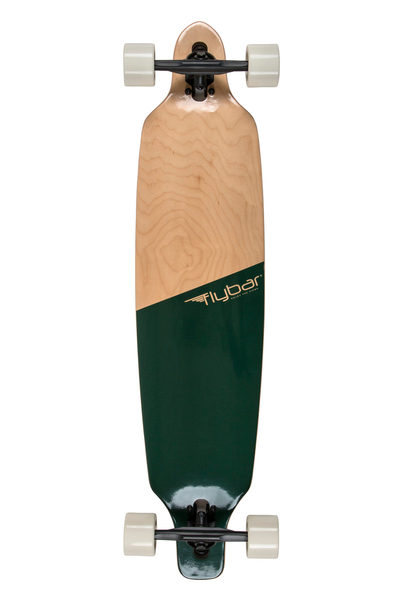 "Flybar 39"" Drop-Through Complete Longboard, Tee Green - Da Da Kinder Store"