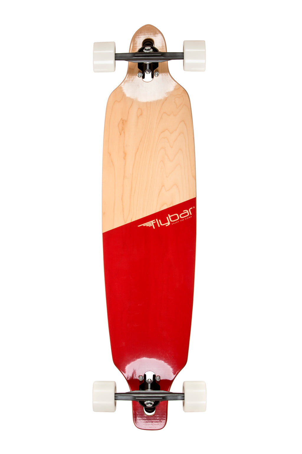 "Flybar 39"" Drop-Through Complete Longboard, Red"