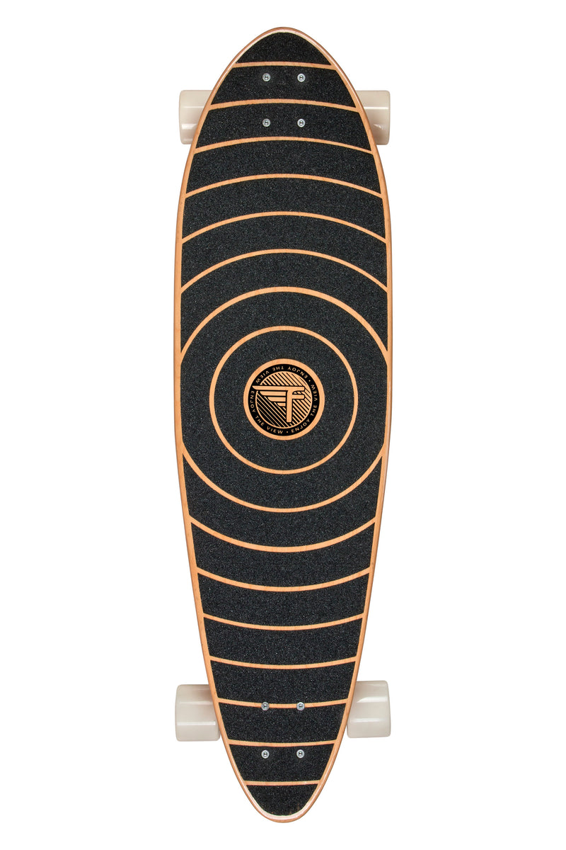 "Flybar 36"" Pintail Cruiser Complete Longboard- Spiral"