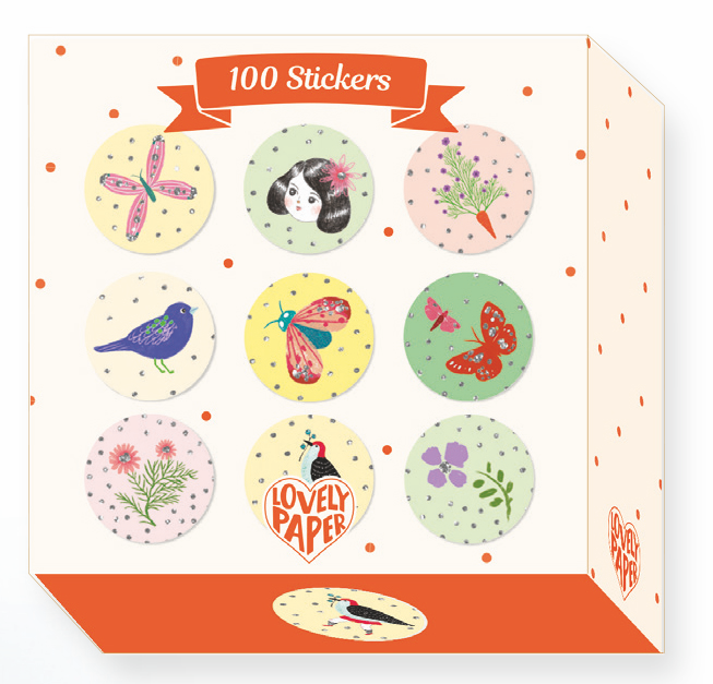 Djeco Stickers - 100 Stickers Chichi