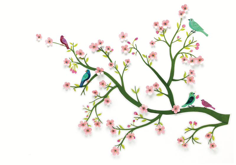 Djeco Wall Sticker 3D - Cherry Tree In Bloom