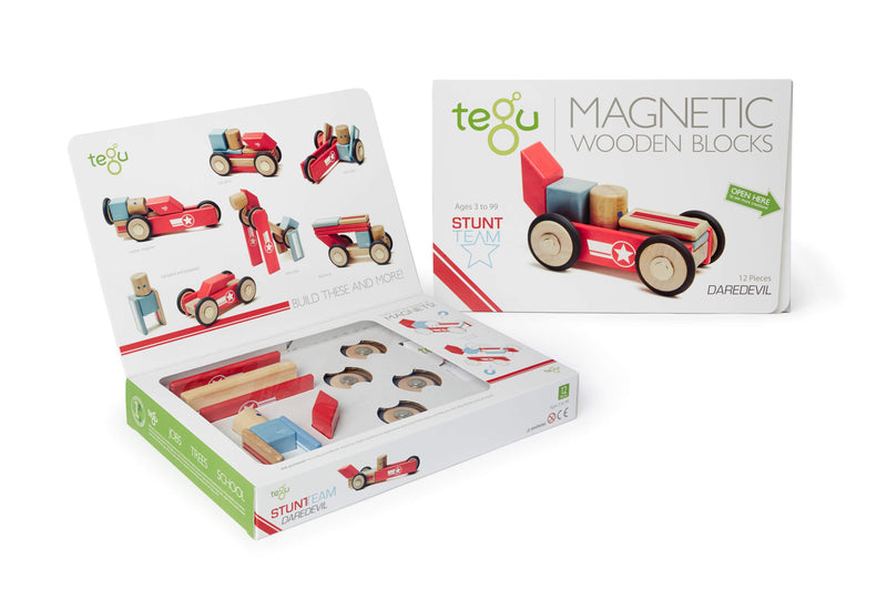 Tegu Dare Devil Magnetic Wooden Block (Pack of 12)