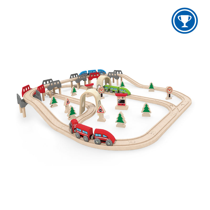 Hape High & Low Railway Set - Da Da Kinder Store