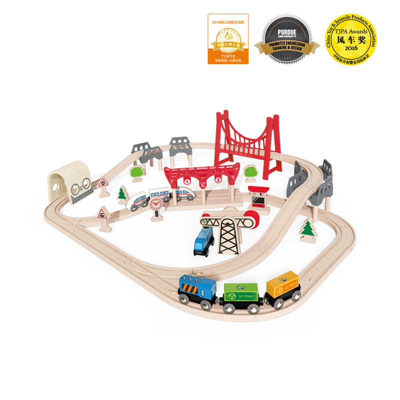 Hape Double Loop Railway Set - Da Da Kinder Store