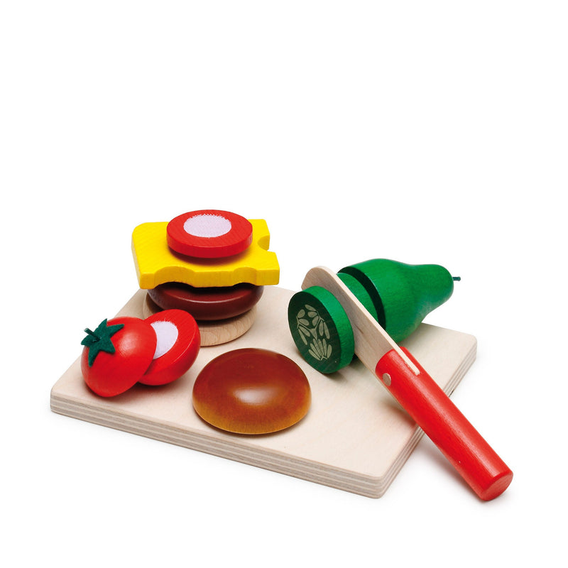 Erzi Toys UK Cheeseburger Cutting Set