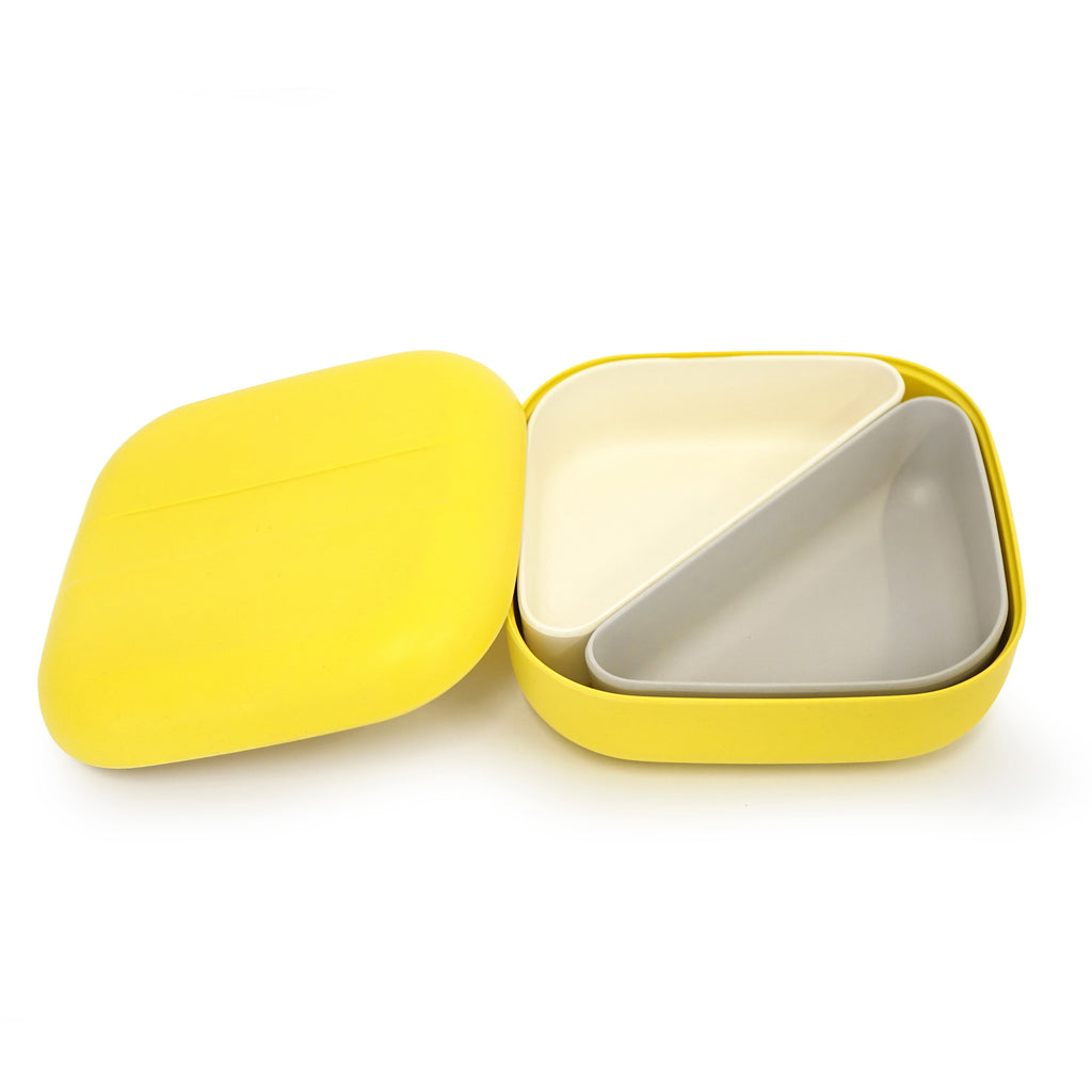 EKOBO Go Bento Lunch Box Square, Lemon - Da Da Kinder Store