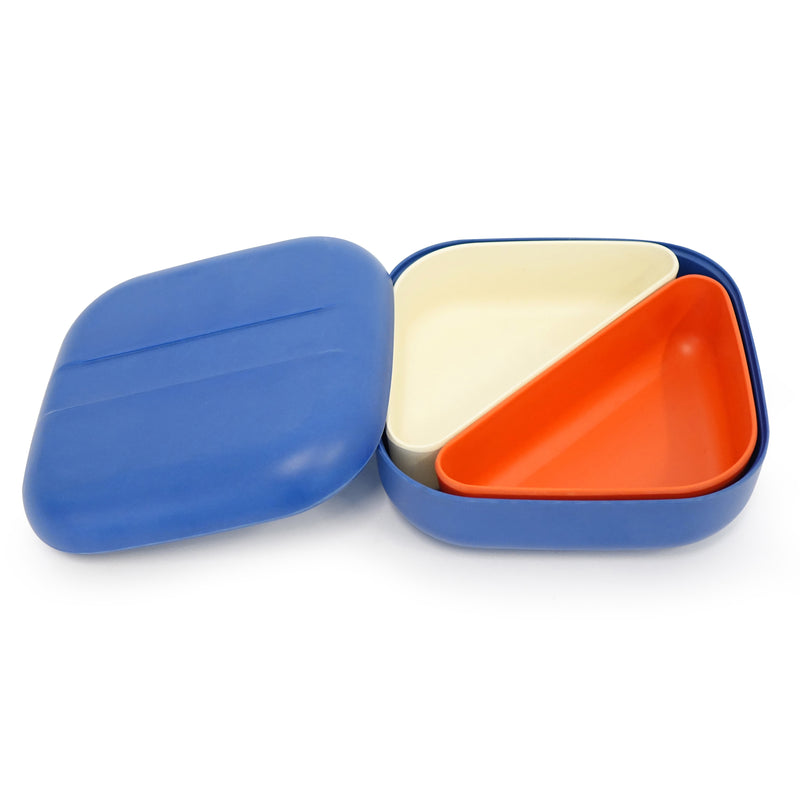 EKOBO Go Bento Lunch Box Square, Royal Blue - Da Da Kinder Store