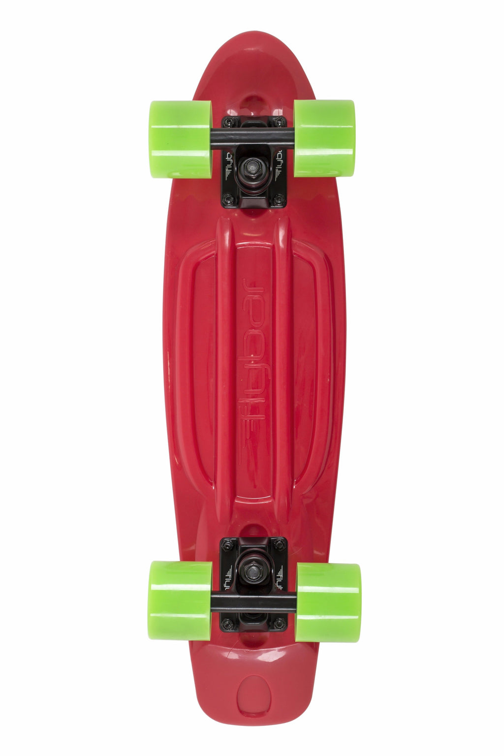 "Flybar 22"" Complete Plastic Cruiser Skateboards- Red, Green"