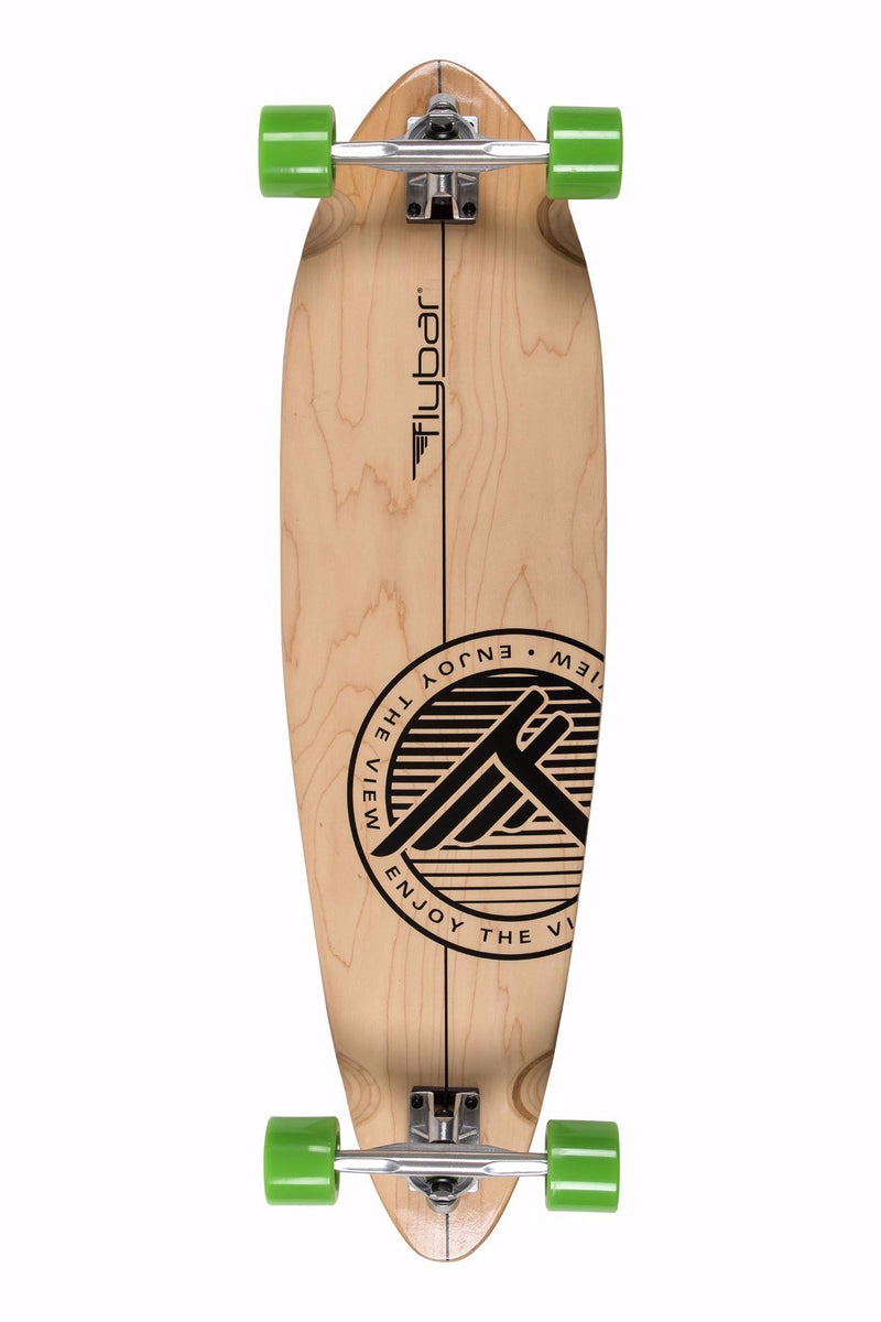 "Flybar 36"" Pintail Cruiser Complete Longboard- Striper Wood"
