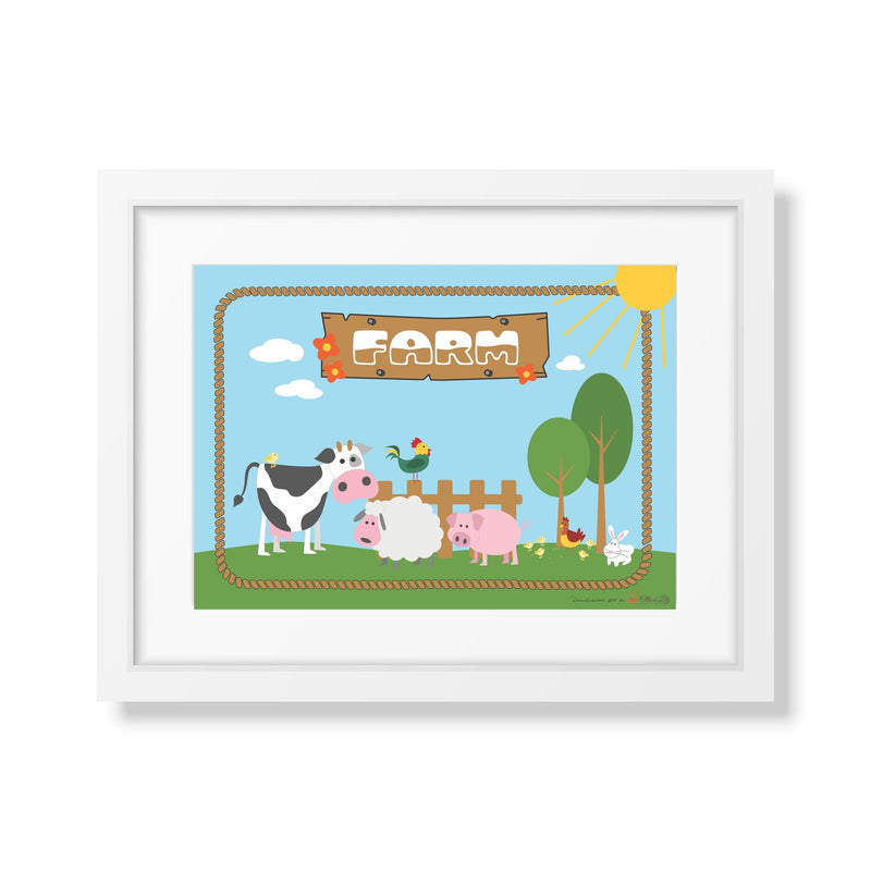 Ollie & Lily Farm Poster